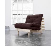Pack matelas futon chocolat coton structure en bois naturel 140x200 - Terre de Nuit - Ensembles matelas et sommier