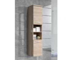 Armoire de rangement Paso Hauteur : 160 cm Sonoma - Meuble de rangement haut placard meuble de salle de bain - Installations salles de bain