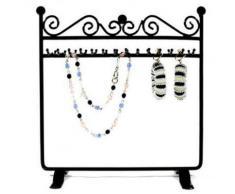 Porte bijoux porte bijoux cadre dressing bracelet collier et accessoire Noir - Objet à poser