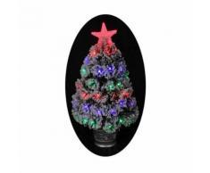 Sapin de Noël artificiel Nashville Floqué - 68 LED - 55 branches - ~ 35 x H 60 cm - Objet à poser