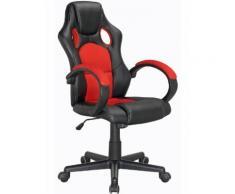 Fauteuil De Bureau Max Rouge Et Noir - Sièges et fauteuils de bureau