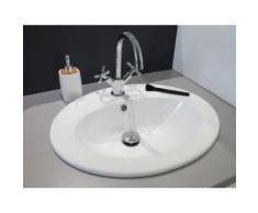 Vasque céramique ovale à encastrer Sita - Installations salles de bain