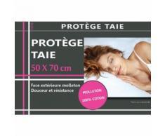 Housse de protection d'oreiller en coton molleton 50 x 70 cm - Linge de lit