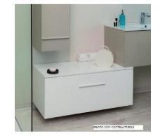 Aqua+ - meuble salle de bain bas marron glacé à suspendre 90 cm livré monté - terry - Installations salles de bain