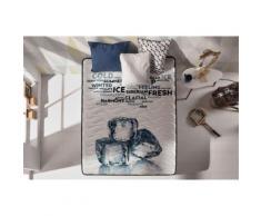 Matelas MEMOGEL 90X190 cm mémoire de forme Gel Fresh® - mousse HR Blue Latex® - Double face été/hiver - 20 cm - Matelas