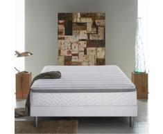 Literie DUNLOPILLO COMETE (matelas + sommier + pieds) - 2 x 80 x 200 cm - Ensembles matelas et sommier