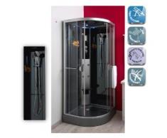 Aqua+ - cabine de douche hydro sans silicone 1/4 cercle 80 accès coulissant 90x90cm - ned - Installations salles de bain