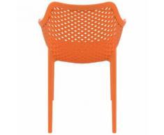 Chaise de jardin / terrasse 'SISTER' orange en matière plastique - Chaise