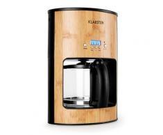 Klarstein Bamboo Garden Machine à café 1080W 1,25L bambou - Expresso et cafetière