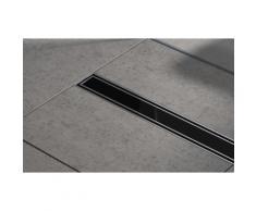 Caniveau de douche 80cm bp06 - Verre - évacuation d'eau - siphon de sol - acier inoxydable - Pièces de robinets