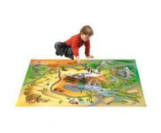 Tapis enfant jeu circuit CONNECTE SAVANE Tapis Enfants par House Of Kids 100 x 150 cm - Tapis et paillasson