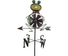 Girouette à vent grenouile - Jardin - Objet à poser
