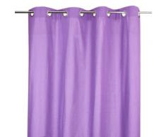 Rideau en coton pour chambre enfant coloris violet, L.260 x l.140 cm -PEGANE- - Rideaux et stores