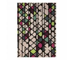 Tapis moderne Esprit Artisan Pop motif géométrique Multicouleurs 90x160 - Tapis et paillasson