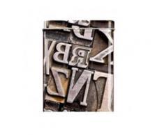 Boite Cigarettes - Lettres Design Metal Cuivre - Conservation