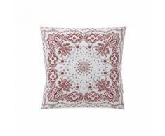 Bensimon x Essix - Taie d'oreiller Percale de coton Bandana Sienne - 64 x 64 cm - Linge de lit