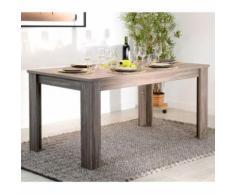 Table à manger rectangulaire en bois Longueur 160 cm CHAMPAGNE - Tables salle à manger