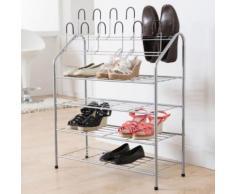 Etagère à chaussures en métal laqué + 12 supports verticaux 69.5x27.5x88cm Harry - Meubles à chaussures