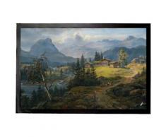 Johan Christian Clausen Dahl Paillasson Essuie-Pieds - Regard Sur Øylo Ferme, Valdres, 1846 (40x60 cm) - Tapis et paillasson