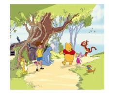 Winnie l'Ourson Rideau - Friends, Christopher Robin, Piglet ,tigger, Eeyore (160x180 cm) - Rideaux et stores