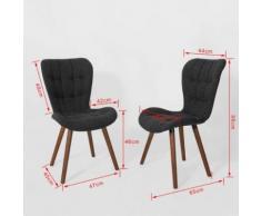 SoBuy® Lot de 2 chaise Design pour Cuisine Salle à Manger Bureau, FST41-DGx2 FR - Chaise