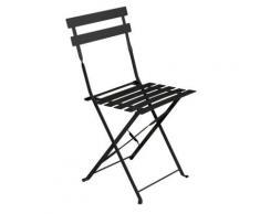 Chaise de jardin pliante Camarque - Noir - Objet à poser