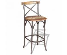 Meelady Tabouret de bar Style Industrial Chaises de bar en Bois 42 X 42 X 110 CM - Chaise