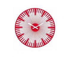 Koziol - Horloge murale PIANO rouge - Décoration murale