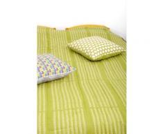 Quilt 140X230 - 2 Imprimés Réversible BAOBAB Vert anis 140x230 cm - Linge de lit