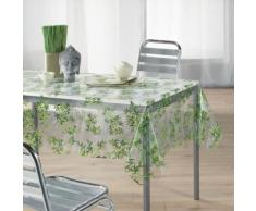 nappe cristal rectangle 140 x 240 cm pvc imprime 14/100e bambou - Linge de table