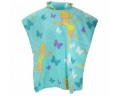 Disney Fée Clochette - Couverture poncho en polaire - Fille (70cm x 160cm) (Turquoise) - UTMS330 - Linge de lit