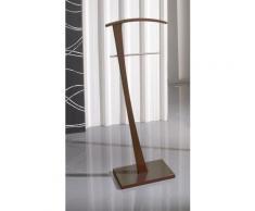 Valet de Nuit Noyer en Bois/Metal sur socle rectangulaire, 28 x 48 x 115 cm -PEGANE- - Objet à poser