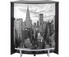 Meuble Comptoir Bar Noir Imprimé New York - Tables bar