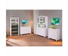 Etagère bibliothèque meuble de rangement salon séjour salle à manger bois BLANC - Bibliothèques