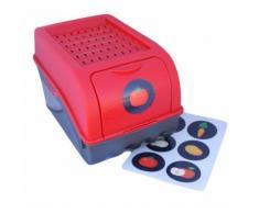 Boîte de conservation pour Pommes de terre, Légumes, Fruits, Oignons, Boîte de rangement en plastique, Volume de 7,7 litres en rouge - Boite de rangement