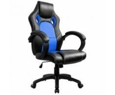 Racing Chaise de Bureau - IntimaTe WM Heart - Fauteuil de Bureau Moderne Confortable Ergonomique En Similicuir PU Haute Dossier Siège Gamer (bleu) - Sièges et fauteuils de bureau