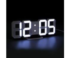 Horloge Digitale Blanche Avec 3 Modes de luminosité - Autres