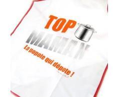 Les Trésors De Lily [M5152] - Tablier de cuisine 'Top Maman' la popote qui dépote ! - Autres