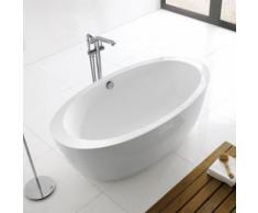 Baignoire ilot ovale - acrylique blanc - 170x90 cm - paris - Installations salles de bain