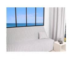 Jeté de canapé 170x250 cm COTONADE gris clair - Textile séjour