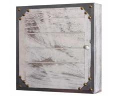 Boîte à clés Virginia T209 coffret mural rangement shabby chic vintage ~ blanc - Objet à poser