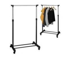 penderie portant vetement hauteur reglable sur roulettes - Accessoires salles de bain et WC