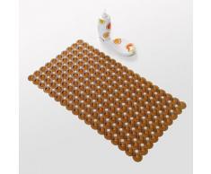 Tapis antidérapant moderne en PVC 40 x 70 cm Marron - Accessoires de bain