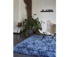 Tapis COOL GLAMOUR shaggy laiton Esprit Home Bleu 200x200 - Tapis et paillasson