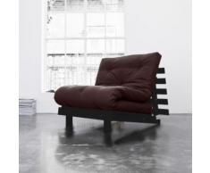 Pack matelas futon chocolat coton structure en bois wengé 140x200 - Terre de Nuit - Ensembles matelas et sommier