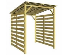 Abri de stockage du bois de chauffage pour jardin Pin imprégné - 43324 - Accessoires cheminées et poêles