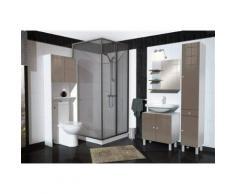 Berlioz Creations MSLTAUPE Meuble Salle de Bain sous-Lavabo Haute Brillance Taupe - Meubles de salle de bain