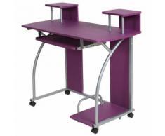 Bureau enfant table de travail meuble mobilier chambre violet - Bureaux