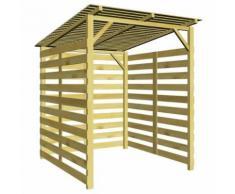 Abri de stockage du bois de chauffage pour jardin Pin imprégné - 43325 - Accessoires cheminées et poêles