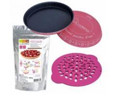 Coffret de préparation pour tarte - Moule, découpoir et pâte sablée - Objet à poser